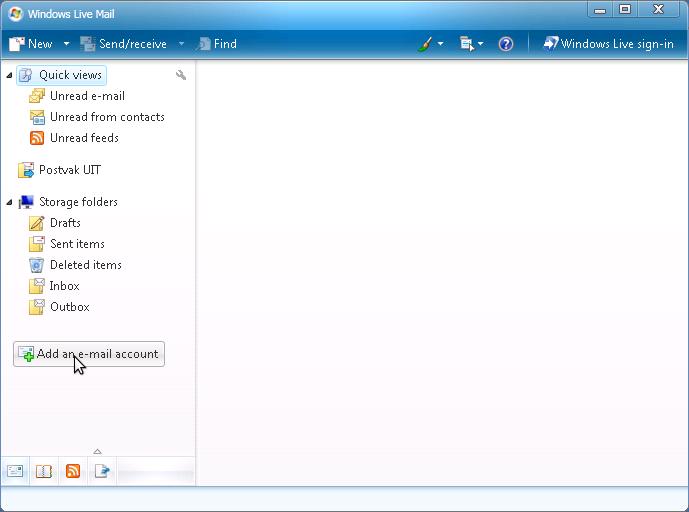 huis muur: Windows live mail instellen